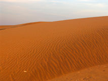 Desert Sand dunes. Prints made by the wind. Great for subjects as desert, lonelyness, adventure, etc Stock Image