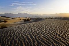 Desert Sand Dunes Death Valley Stock Photos