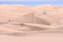 Desert with sand dunes in Gran Canaria Spain. Desert with sand dunes in Maspalomas Gran Canaria Spain stock image