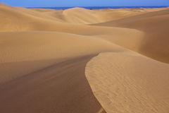 Desert sand dunes in Maspalomas Gran Canaria Royalty Free Stock Photography