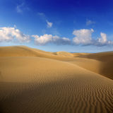 Desert sand dunes in Maspalomas Gran Canaria Royalty Free Stock Images