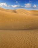 Desert sand dunes in Maspalomas Gran Canaria Royalty Free Stock Image