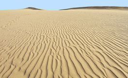 Desert sand dunes in Maspalomas, Gran Canaria Royalty Free Stock Images
