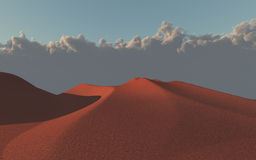 Desert sand dunes. Red Desert sand dunes and cloud front Royalty Free Stock Images