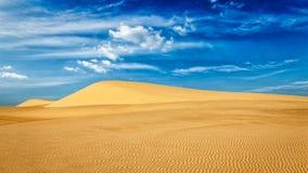 Desert sand dunes on sunrise Stock Image