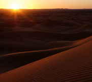 Desert Sand Dunes Sunset Royalty Free Stock Images