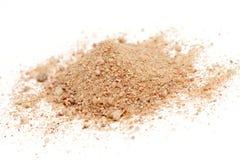 Desert sand. Isolated on white stock image