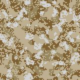 Desert sand seamless camo. Pattern Stock Photo