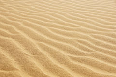 Desert sand. Wind creates ripples in desert sand ism of Paraguana, Coro, Falcon State, Venezuela stock photography