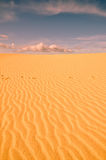 Desert sands and sunset clouds Royalty Free Stock Photos