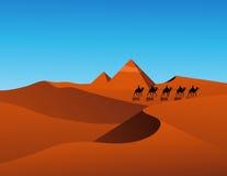 Desert scene. Vector illustration, AI file included Stock Image