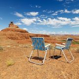 Desert scene. with chairs. Stock Photo