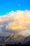 Desert Scene in Fall. Colors and overcast sky Stock Photos