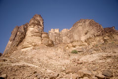 Desert scene, Wadi Rum, Jordan Royalty Free Stock Photography