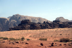 Desert scene, Wadi Rum, Jordan Stock Image