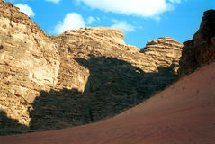 Desert scene, Wadi Rum, Jordan Stock Photo