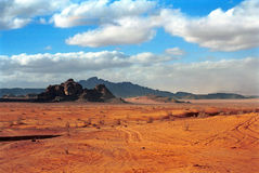 Desert scene, Wadi Rum, Jordan Royalty Free Stock Photography