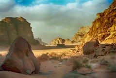 Desert scene, Wadi Rum, Jordan Royalty Free Stock Images