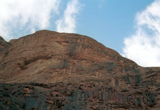 Desert scene, Wadi Rum, Jordan Stock Photo