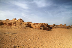 Desert scenery. Sahara desert scenery - view from Giza - Egypt Royalty Free Stock Images