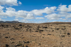 Desert scenery (Canary Island) Royalty Free Stock Images
