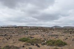Desert scenery (Fuerteventura) Royalty Free Stock Images
