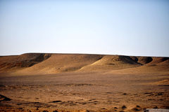 Desert. Scenery for sand and hills in Egypt Royalty Free Stock Photos