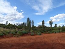 Desert scenery in Yalara, Northern Territory. The vivid colours of desert scenery in Yalara, Northern Territory, Australia stock images