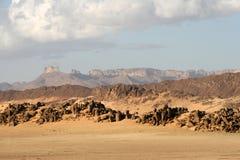 Desert scenes6. Landscapes of rocks and dunes in the algerian Sahara Stock Images