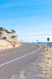 A desert scenic highway Royalty Free Stock Photo