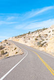 A desert scenic highway Royalty Free Stock Photos