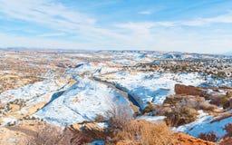 A desert scenic highway Stock Photos