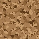 Desert seamless digital camo Stock Photo