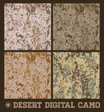 Desert - Seamless vector digital Camouflage Royalty Free Stock Image