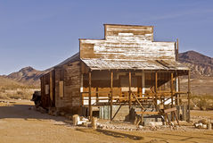Desert Shack. This is a shack from Rhyolite - a ghost town in Nevada near Death Valley National Park Royalty Free Stock Photo