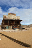 Desert shack at Rhyolite, Nevada Royalty Free Stock Photography