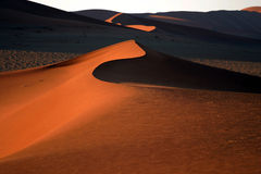 Desert shapes. Shapes and colors of the Namibian desert Stock Image