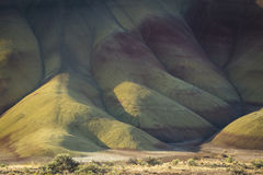 Desert shapes and colors, Painted Hills, Oregon Royalty Free Stock Photography