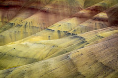 Desert shapes and colors, Painted Hills, Oregon Stock Photography