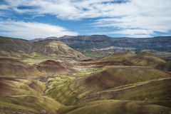 Desert shapes and colors, Painted Hills, Oregon Stock Photos