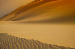 Desert. silhouettes dunes Royalty Free Stock Photography