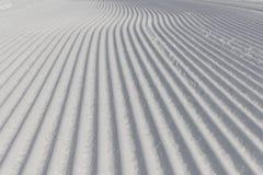 Desert ski slope in winter time. In the dolomites Royalty Free Stock Photography