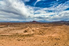 Desert Skies with a threat of Rain Stock Images