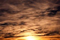 Desert Sky-1. Landscape shot of desert sky at dusk showing many colors Stock Photography