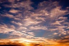 Desert Sky-2. Landscape shot of desert sky at dusk showing many colors Royalty Free Stock Photos
