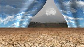Desert sky opens Royalty Free Stock Image