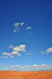 Desert Skyscape. The skyscape over a barren landscape Royalty Free Stock Image