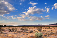 Desert Skyscape. Desert views on route 66 Mojave California royalty free stock photos
