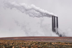Desert Smokestacks Stock Photography