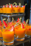 Desert smoothie with strawberry Stock Photos